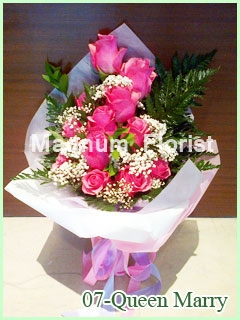 Buket Bunga Mawar Pink 07 Queen Mary