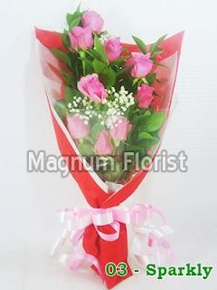 buket bunga tangan mawar