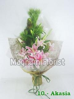 Buket bunga tangan lily