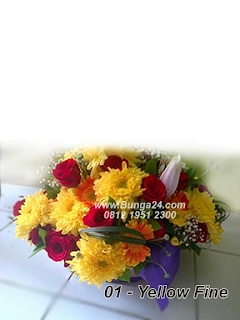 Bunga untuk ibu 01 Yellow Fine