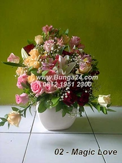 Bunga Rangkai dari Mawar