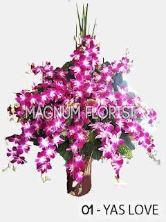 Rangkaian Vas Bunga Anggrek