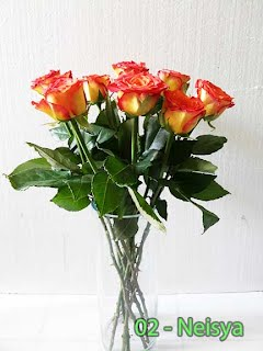 Rangkaian Bunga Mawar Orange