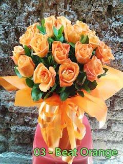Bunga Mawar orange Bundar