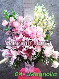 Bunga Meja lily pink