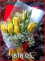Rangkaian Bunga tulip kuning